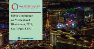 865th Conference on Medical and Biosciences, 2020, Las Vegas