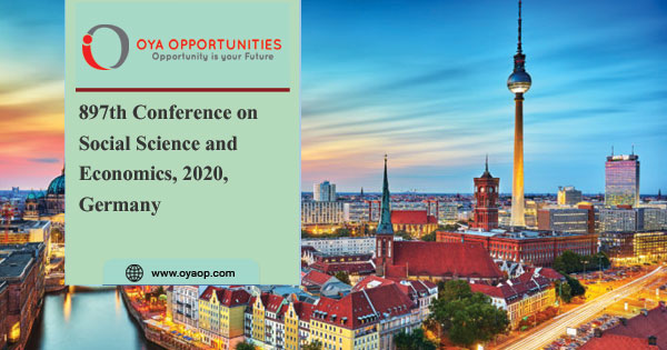 897th Conference on Social Science and Economics, 2020, Germany