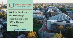 Artificial Intelligence and Technology Executive Education 2020 in Harvard University