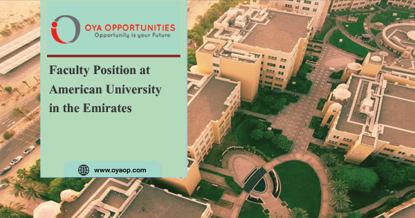 Faculty Position at American University in the Emirates