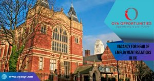 Vacancy for Head of Employment Relations at University of Leeds in UK