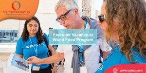Recruiter Vacancy at World Food Program