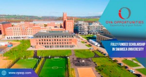Fully Funded Scholarship at Swansea University in UK