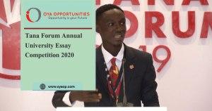 Tana Forum Annual University Essay Competition 2020