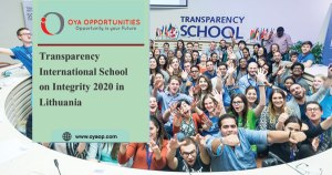 Transparency International School on Integrity 2020 in Lithuania
