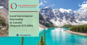 Local Government Internship in Canada (Stipend- $35,000)
