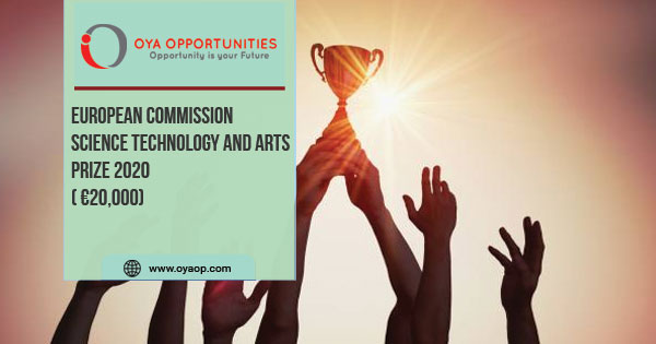 Science Technology and Arts Prize 2020 ( €20,000)