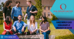 Funded World-Class Scholarships at University of Exeter in UK