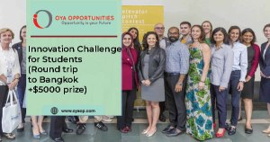 Innovation Challenge for Students(Round trip to Bangkok+$5000 prize)