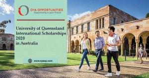 University of Queensland International Scholarships 2020 in Australia