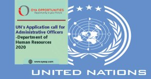 UN calls applications for Administrative Officer-Department of Human Resources