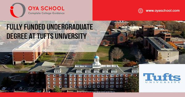 Fully Funded Undergraduate Degree at Tufts University