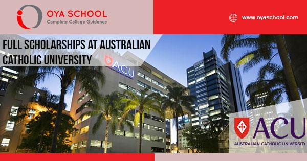 Full Scholarships at Australian Catholic University