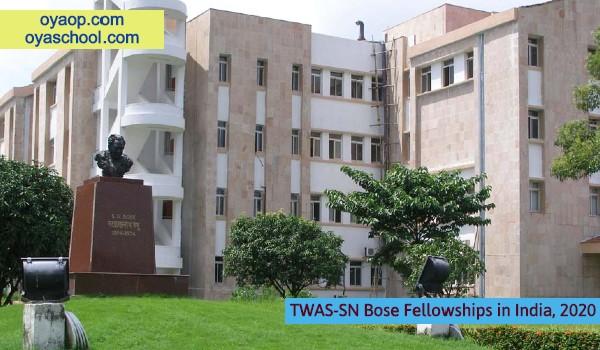 TWAS-SN Bose Fellowships in India, 2020