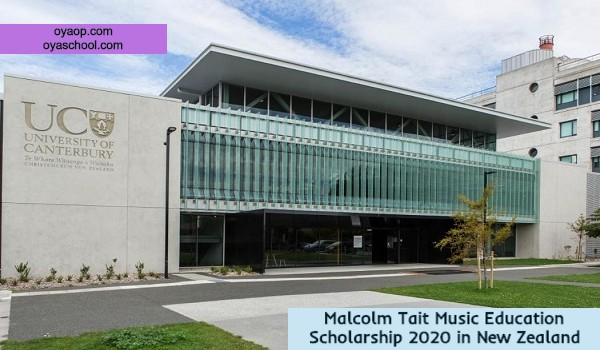 Malcolm Tait Music Education Scholarship 2020 in New Zealand
