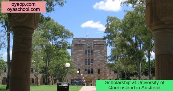 Scholarship at University of Queenslandin Australia