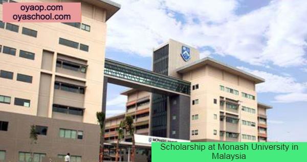 Scholarship at Monash University in Malaysia