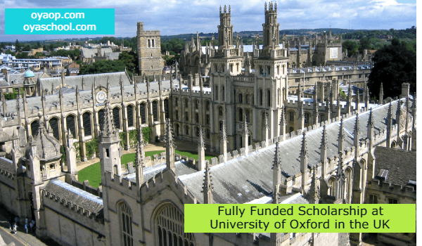 Fully Funded Scholarship at University of Oxford in the UK