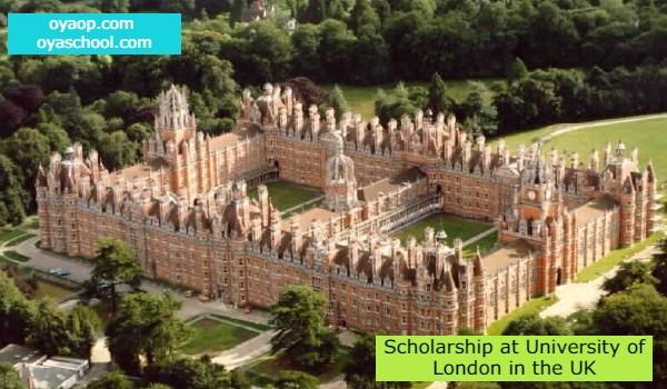 Scholarship at University of London in the UK