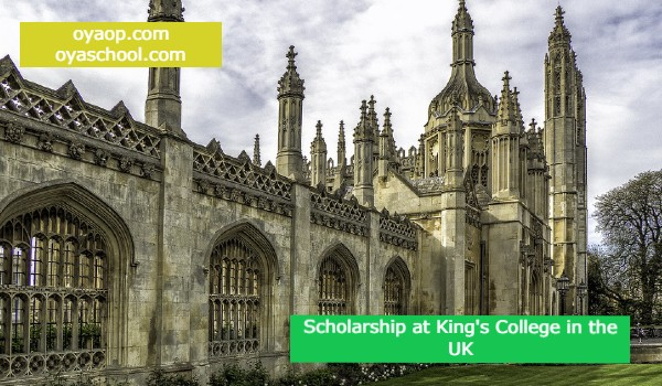 Scholarship at King's College in the UK