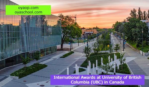 International Awards at University of British Columbia (UBC) in Canada