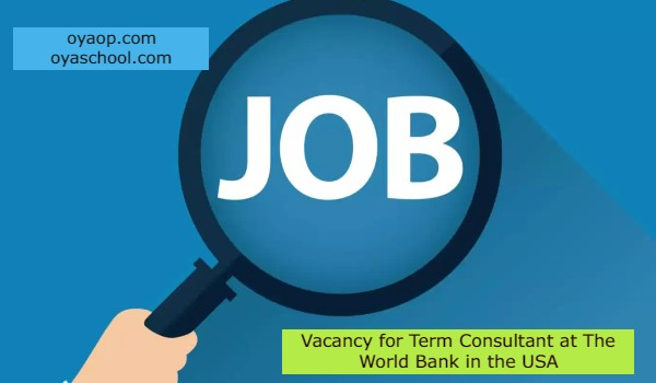 Vacancy for Term Consultant at The World Bank in the USA