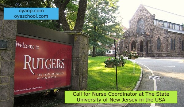 Call for Nurse Coordinator at The State University of New Jersey in the USA