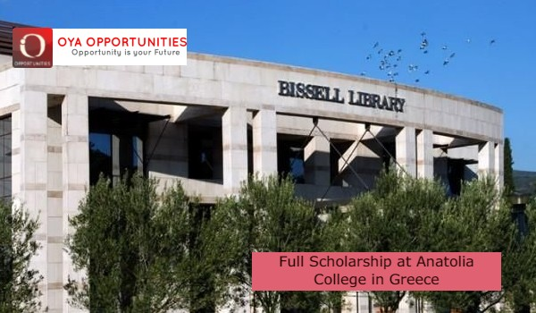 Full Scholarship at Anatolia College in Greece