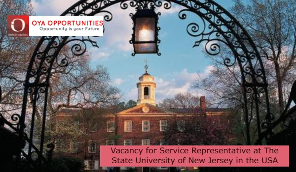 Vacancy for Service Representative at The State University of New Jerseyin the USA