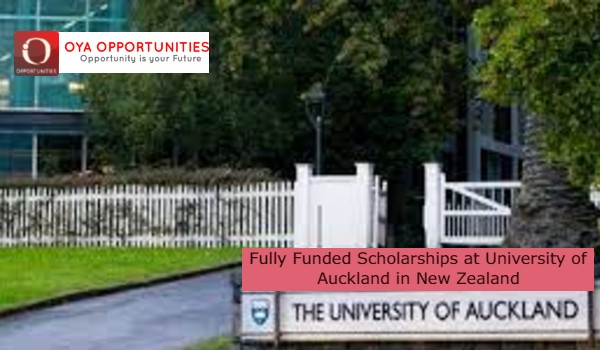 Fully Funded Scholarships at University of Auckland in New Zealand