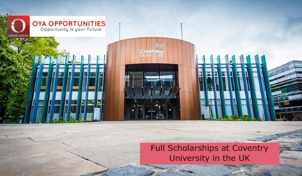 Full Scholarships at Coventry University in the UK