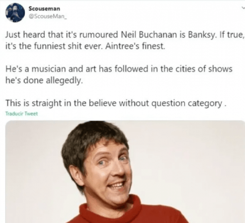 Internautas creen que Neil Buchanan de Art Attack es Banksy