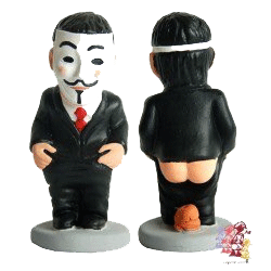 Caganer 2019 #Anonymous