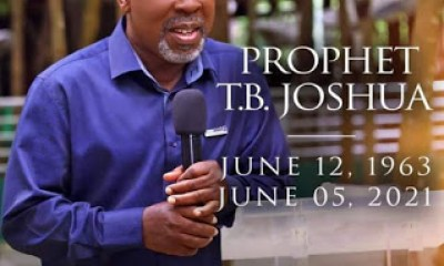 Prophet TB Joshua is not Dead, his Grace and anointing is available for all who believe -says Nigerian Billionaire Prophet Jeremiah Fufeyin Of MERCY TV