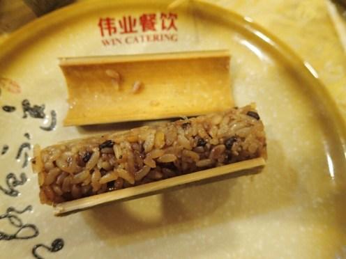 Riz cuit dans du bamboo | Rice coocked in bamboo