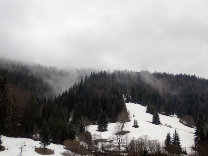 Il y a encore de la neige