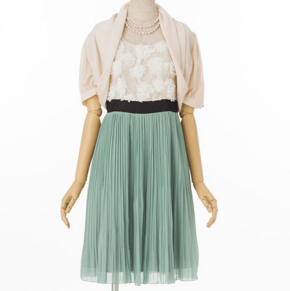 Queen_Claret_【ドレス3点SET】クイーンクラレット グリーン/M|結婚式・パーティーのアイテム、レンタルドレスは、Cariru