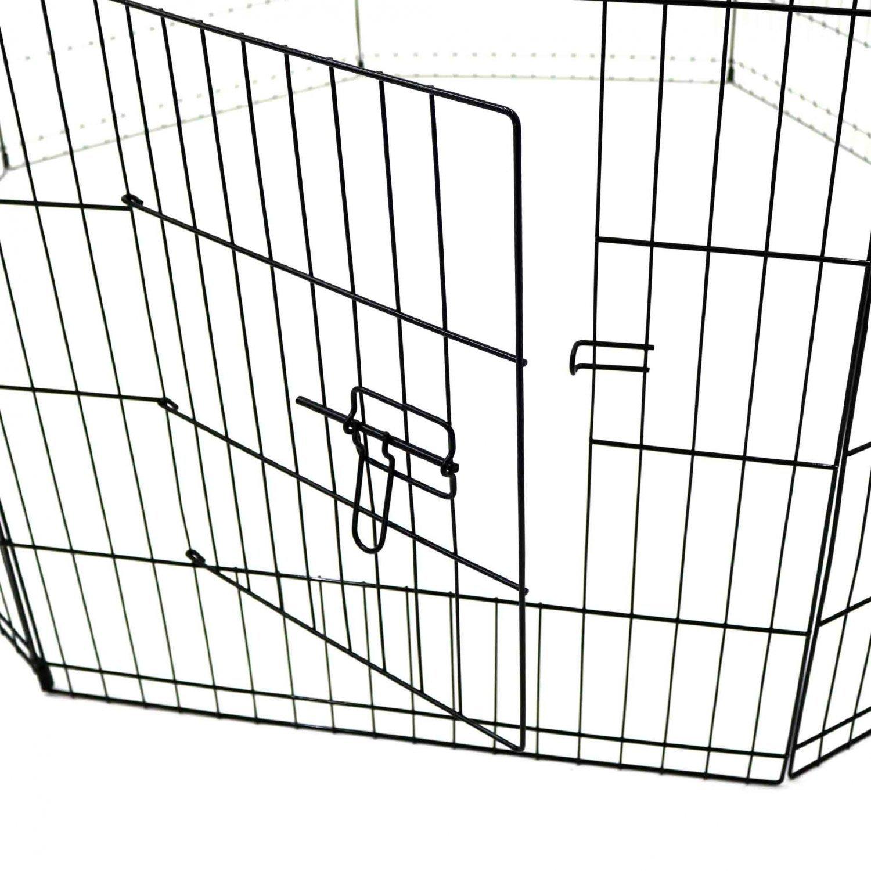 Medium Folding Pet Dog Rabbit Run Play Pen Cage Enclosure