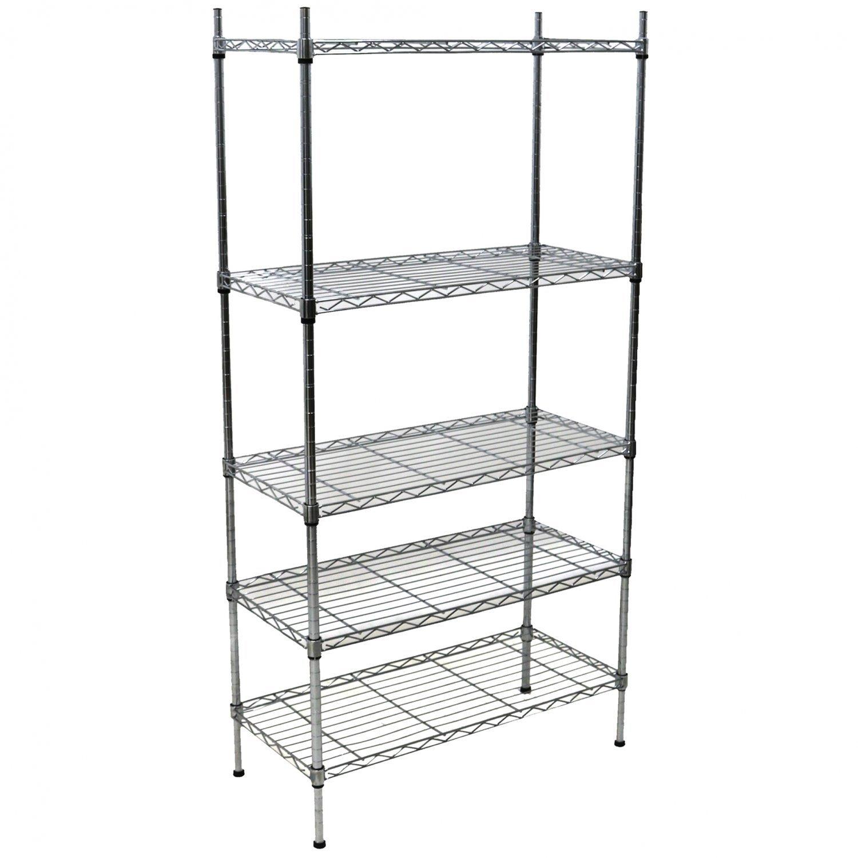 5 tier heavy duty steel wire rack shelf storage shelving unit
