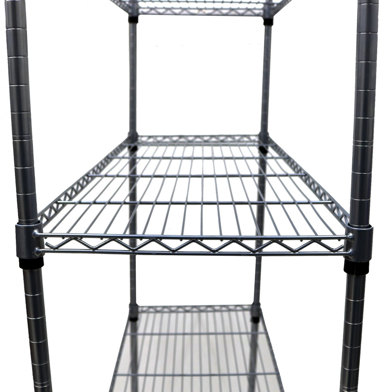 4 Tier Heavy Duty Steel Wire Rack Kitchen Storage Unit W