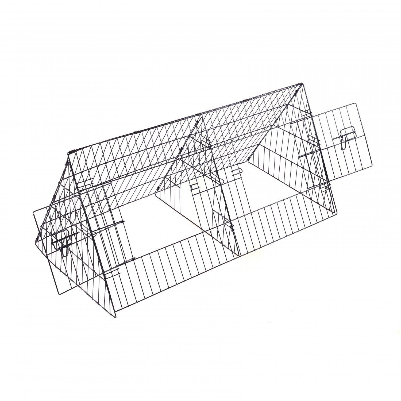 48 Metal Triangle Rabbit Guinea Pig Pet Hutch Run Cage