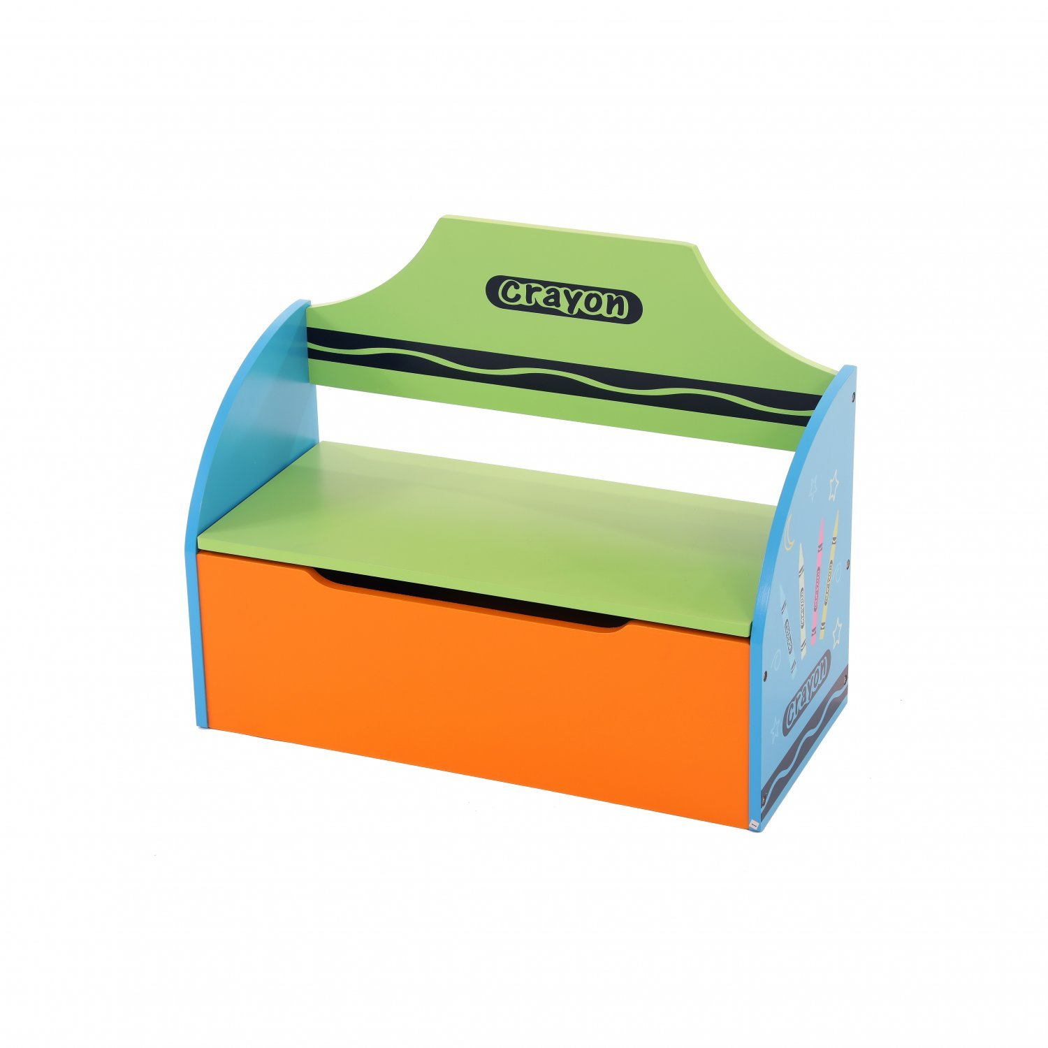 Childrens Wooden Crayon Toy Storage Unit Box Bench 24 99 Oypla Stocking The Very Best In Toys Electrical Furniture Homeware Garden Gifts And Much More