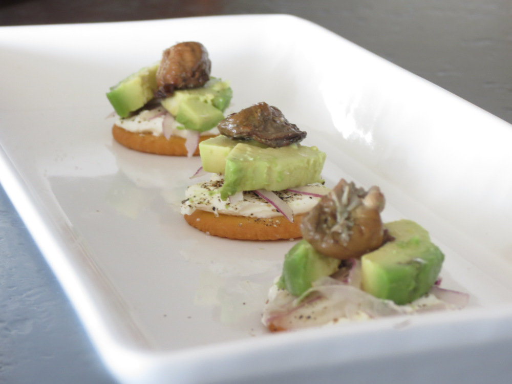 Oyster canapes archives oyster obsession for Smoked oyster canape