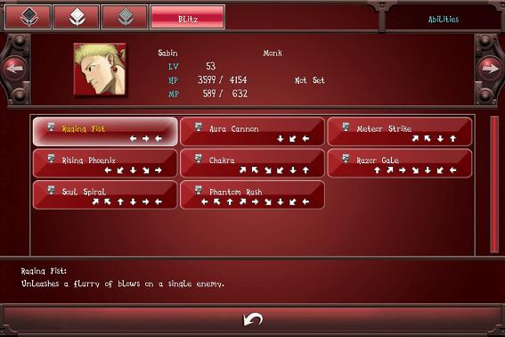 Blitz Input Commands AndroidiOS Final Fantasy VI Wiki