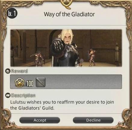 Way Of The Gladiator Final Fantasy XIV A Realm Reborn
