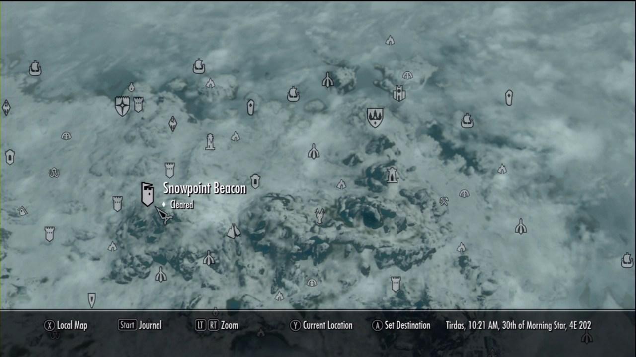Snowpoint Beacon The Elder Scrolls V Skyrim Wiki Guide IGN