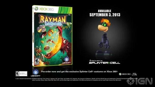 Rayman Legends Gets Splinter Cell Assassins Creed Skins