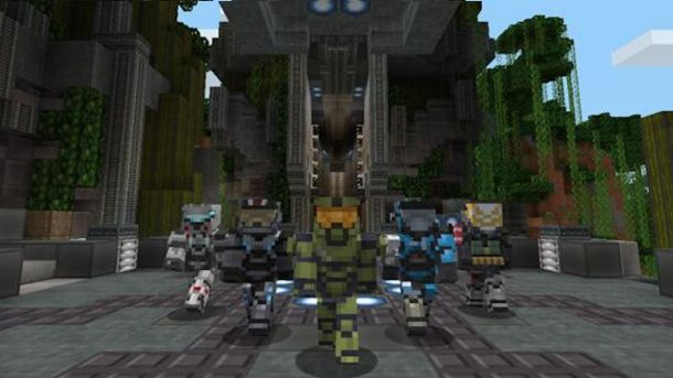 Minecraft Halo Mash-Up