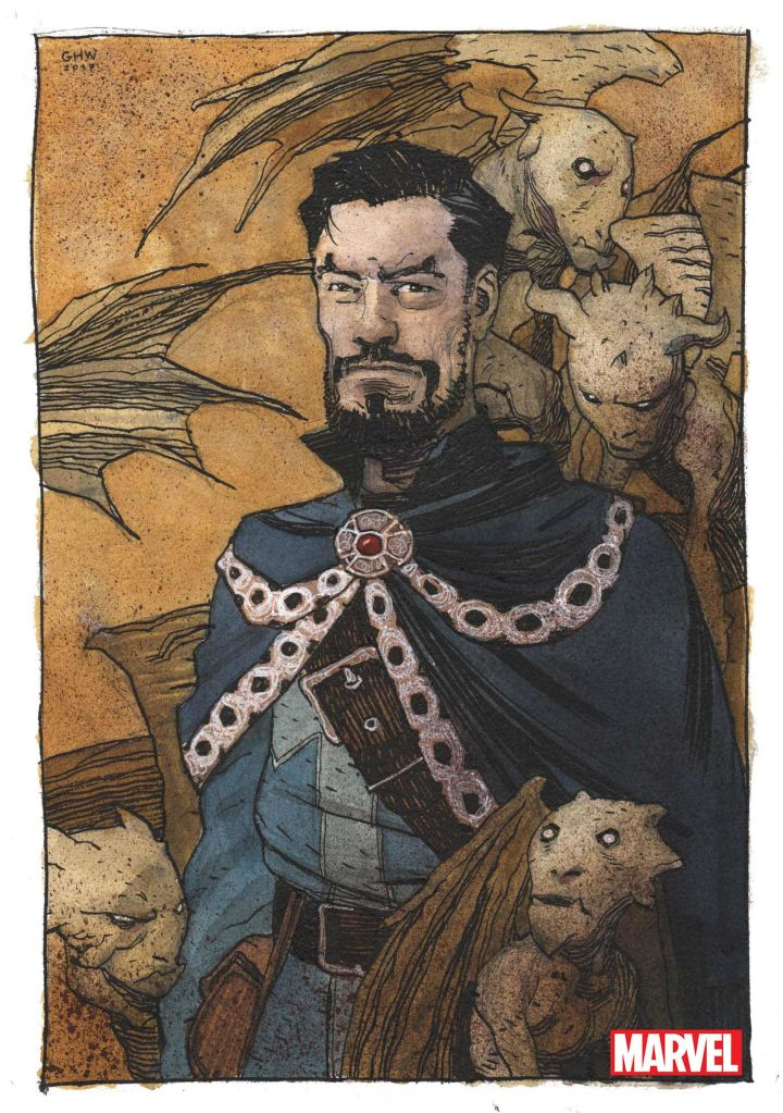 Doctor Strange cover art by Gabriel Hernandez Walta. (Marvel Comics)
