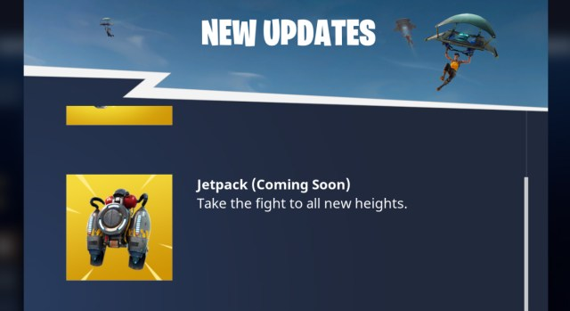 Jetpacks are coming to Fortnite!
